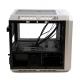 Talius - Caja Micro-ATX Abyss Formato Cubo - NO GRABADORA - No incluye FA - 2xUSB 3.0 - Audio - Lector de tarjetas - LED - Cristal templado - Blanco