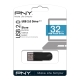 PNY - Pendrive 32Gb Attache USB 2.0 - Color Negro