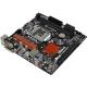 Placa base 1151 microATX ASRock H110M-HDV R3.0 2xDDR4 (hasta 32 GB 2133 Mhz) - 4xSATA - USB 2.0 (4/2) - USB 3.1 (2/2) - HDMI - VGA - DVI